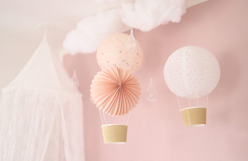 Heißluftballon-Mobile für's Kinderzimmer