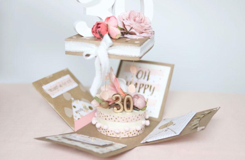 Explosionsbox als Geburtstagsüberraschung